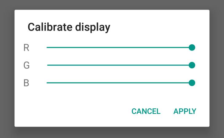 Android N kalibracija ekrana