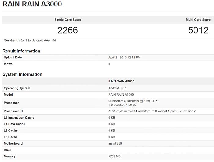 Rain Rain A3000