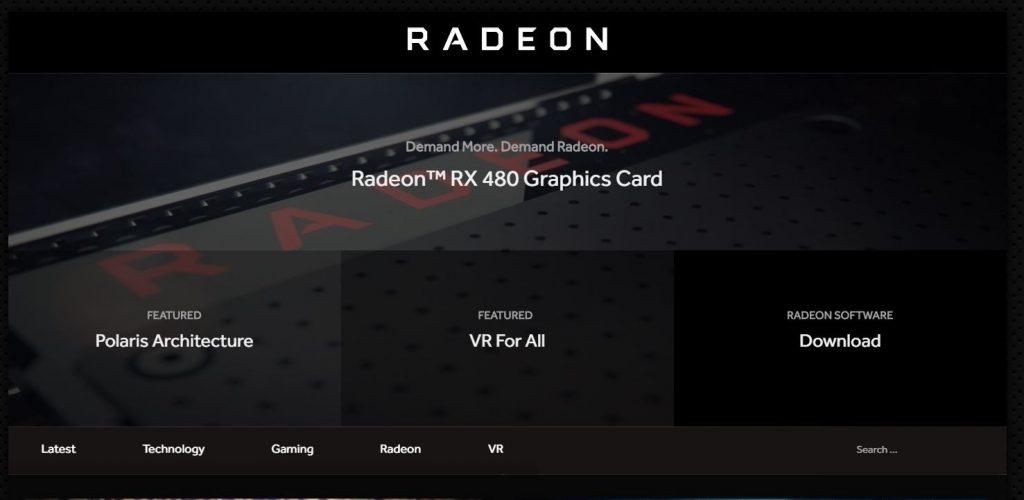 Radeon.com sajt