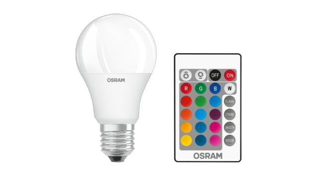Sijalica u boji LED Osram sa E27 grlom snage 9W, temperaturom od 2700 K i jačinom osvetljenja 806 lm