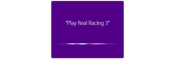 Apple TV Siri Play Real Racing 3