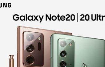 S Pen olovka i prikaz zadnjih kamera Samsung Galaxy Note20 i Note20 Ultra mobilnih telefona