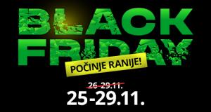 Logo akcije Black Friday 2020. u WinWin-u na crnoj pozadini