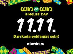 Šarena slika koja prikazuje sve važne informacije za Singles Day akciju u Win Win-u