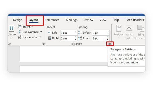 Prikaz kako sprečiti prelamanje paragrafa u Word dokumentu