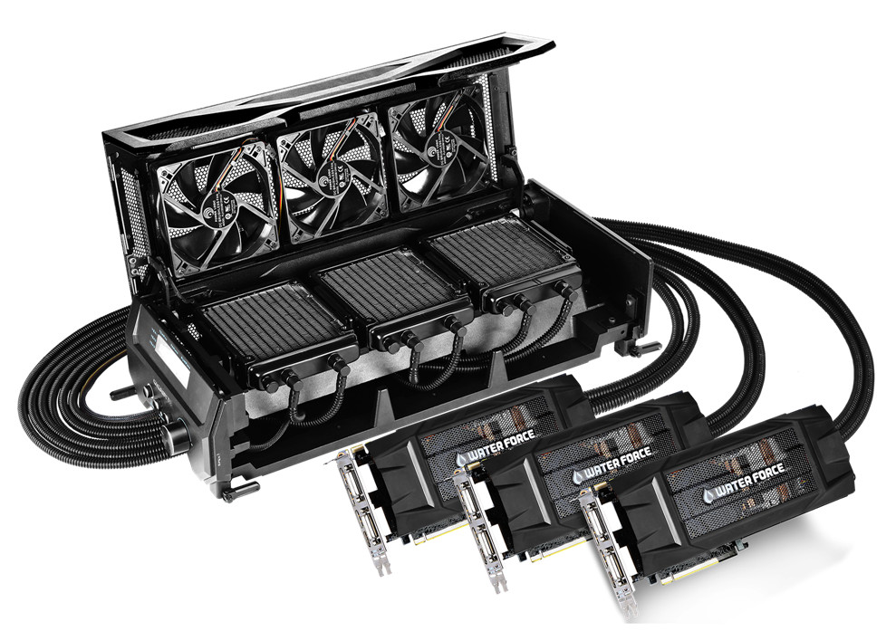 GeForce GTX 980 WaterForce Tri-SLI 31a
