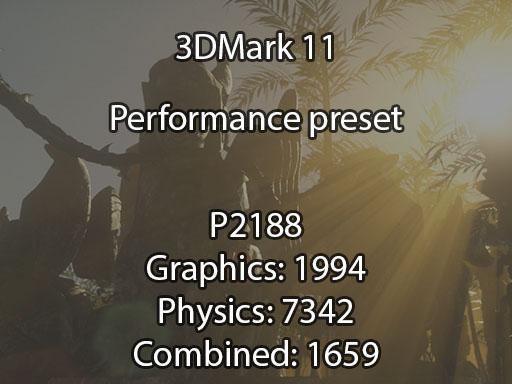 3DMark 11 N76VB benchmark