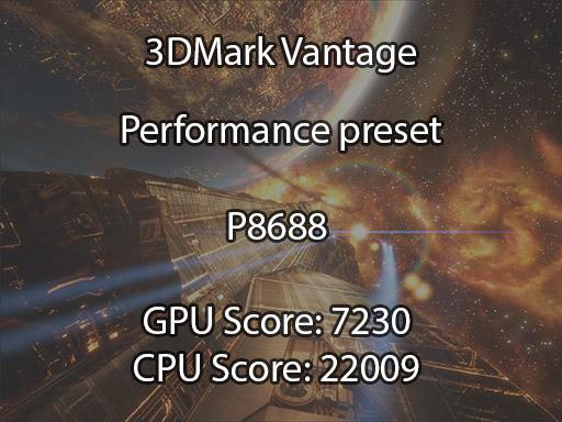 3DMark Vantage N76VB benchmark