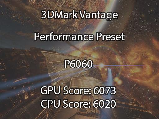 3DMark Vantage benchmark