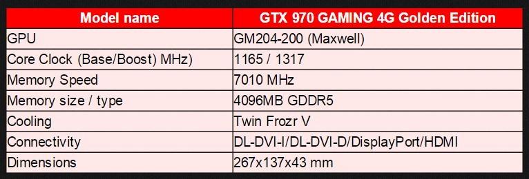 MSI GTX 970 Golden 51a