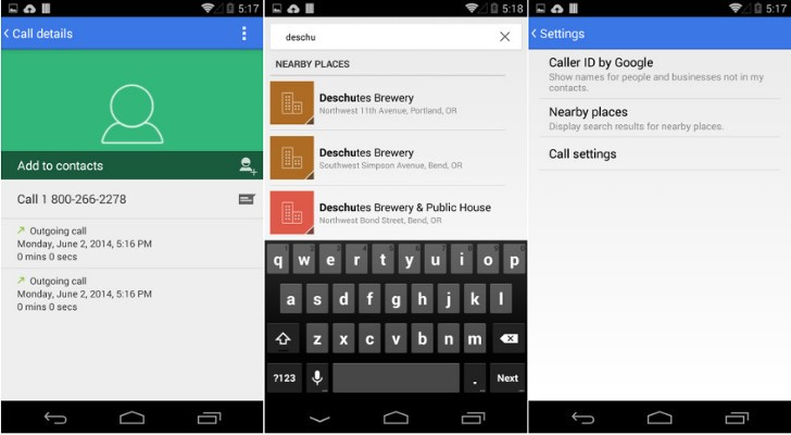 Android 4.4.3 dialer