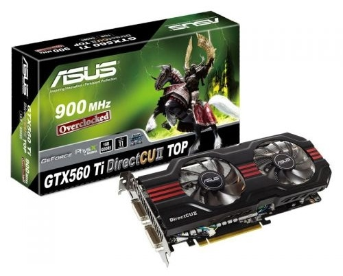 Asus GeForce GTX560-TI DirectCU II TOP 1GB DDR5
