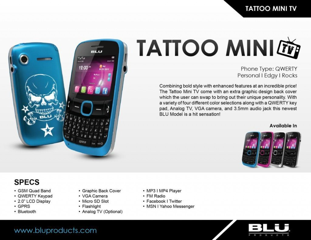 Blu Tattoo Mini TV