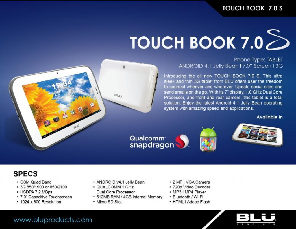 Blu Touch Book 7.0S