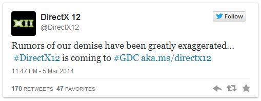 DirectX 12 twitter