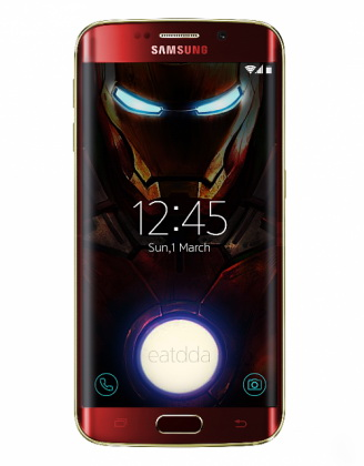 Galaxy S6 Edge Iron Man 01