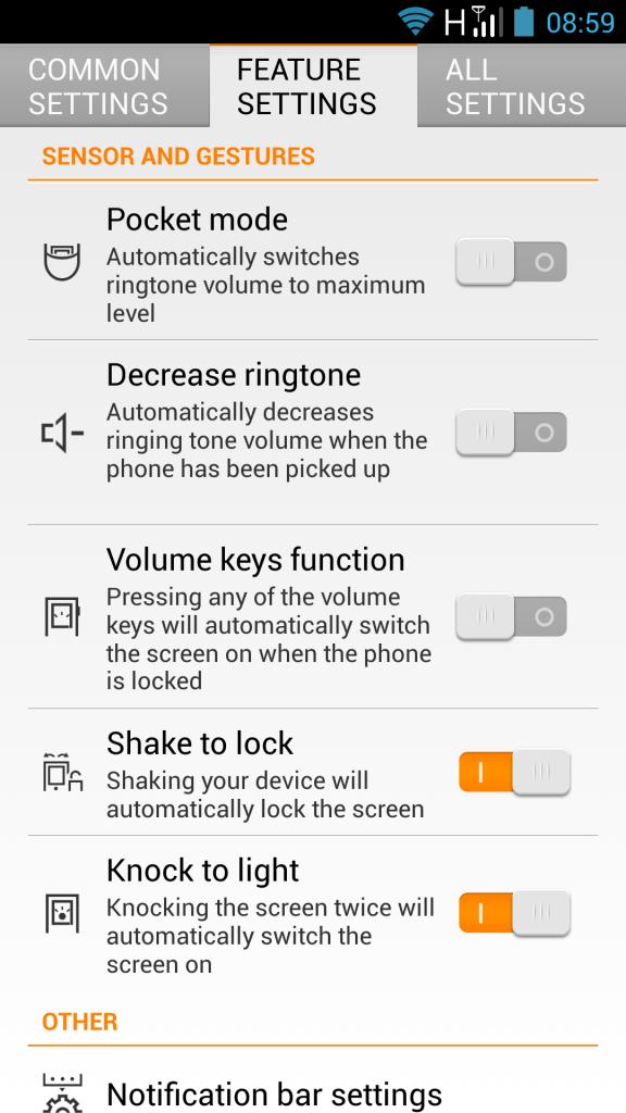K900 Shake to lock