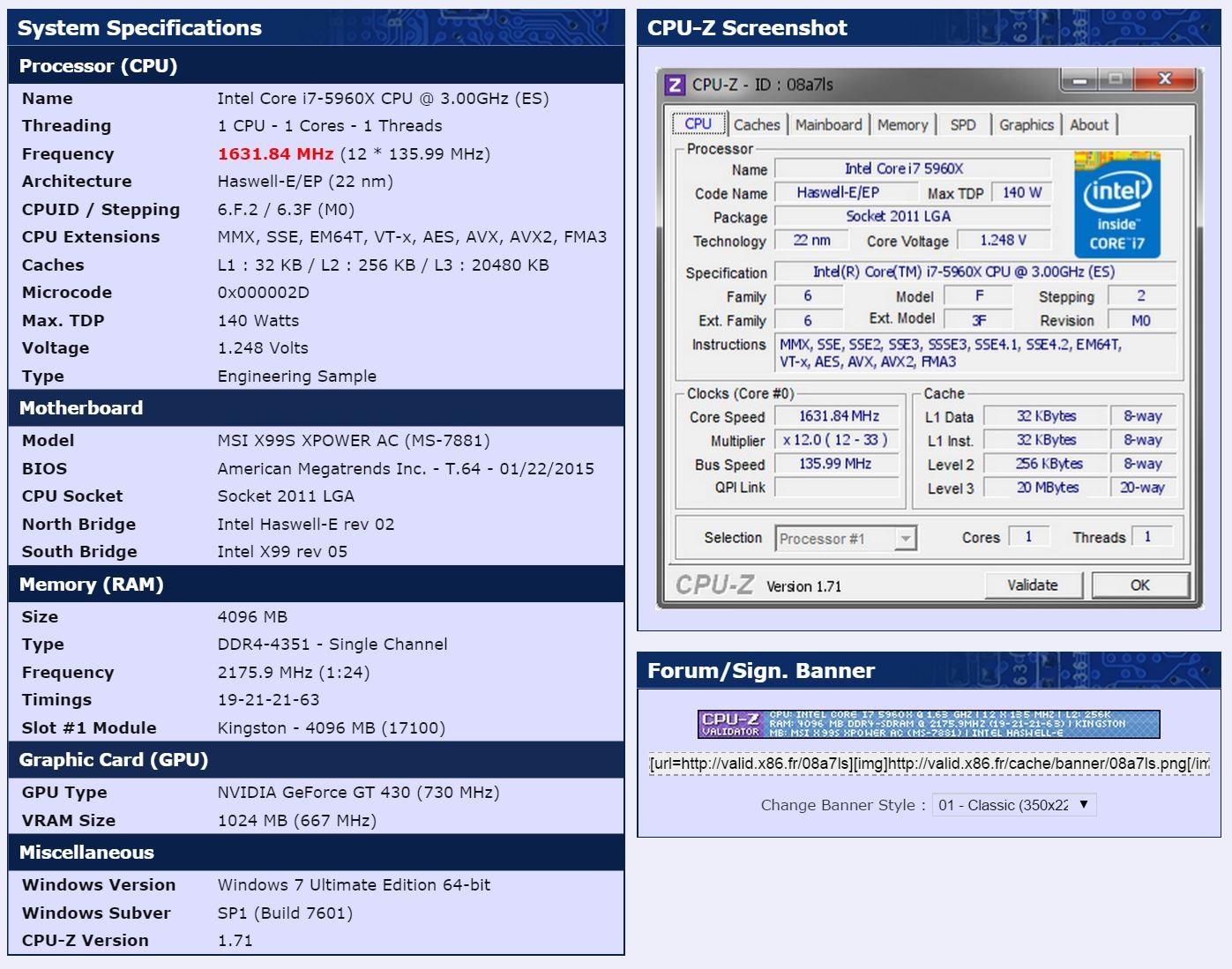 Kingston HyperX DDR4 overclocking rekord