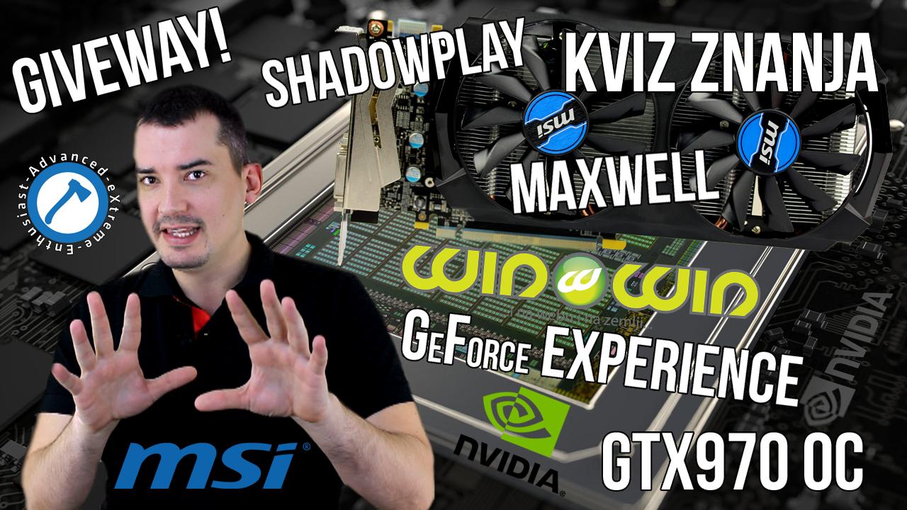 Kviz znanja -NVIDIA GeForce Experience&Maxwell Giveaway