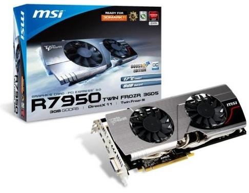 MSI Radeon 7950 TwinFrozr III OC 3GB DDR5