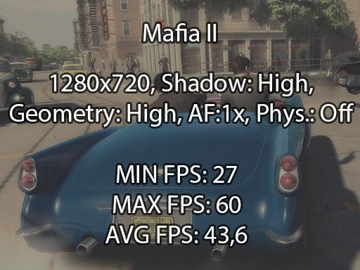 Mafia II benchmark
