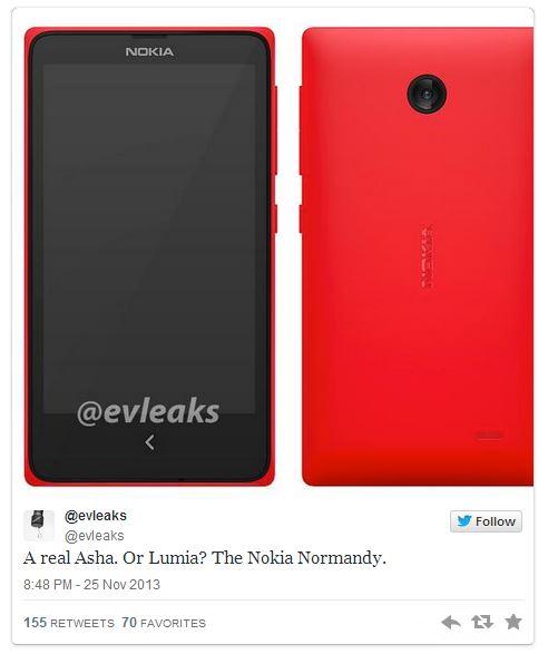 Nokia Normandy Evleaks