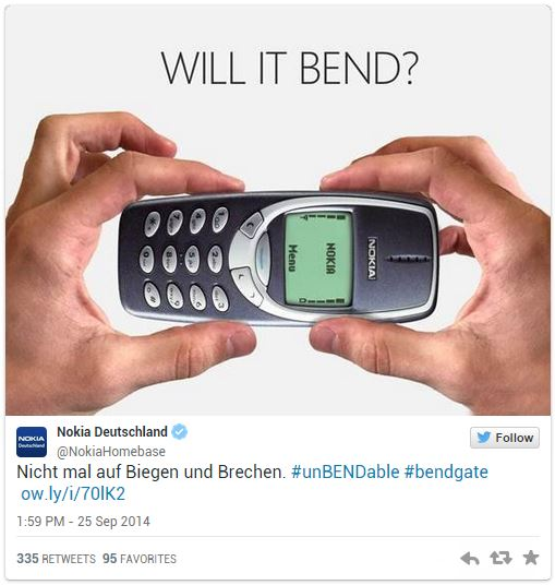 Nokia iPhone 6 bend