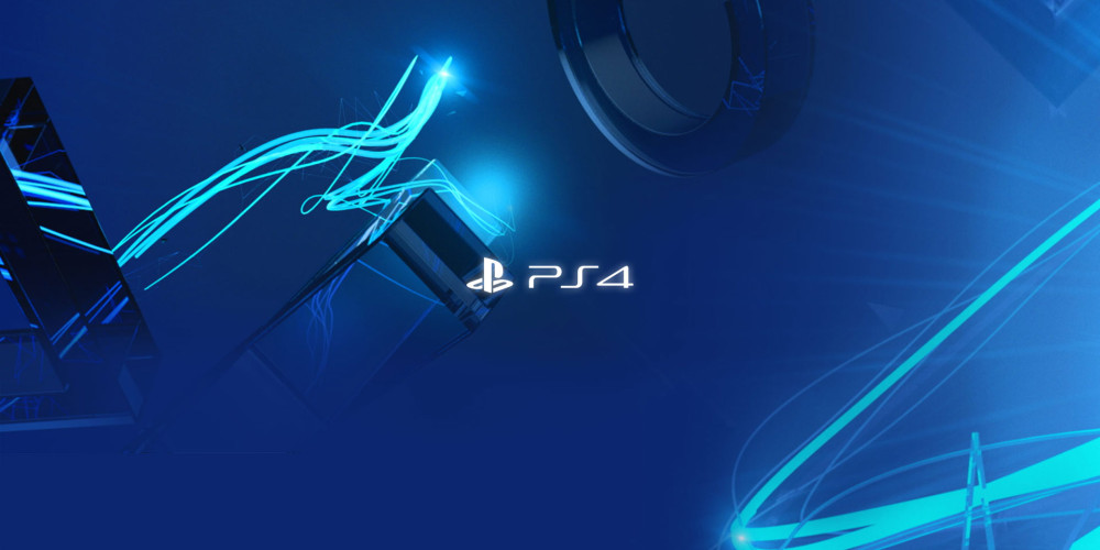 PS4 blue home screen
