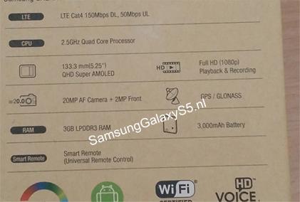 Samsung Galaxy S5 kutija