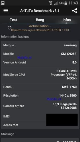Samsung Galaxy S6 AnTuTu Leak