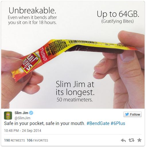 Slim Jim iPhone 6 bend