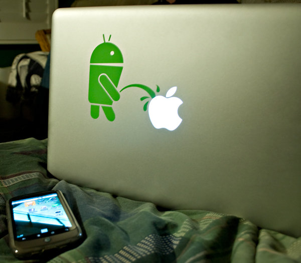 android apple sticker
